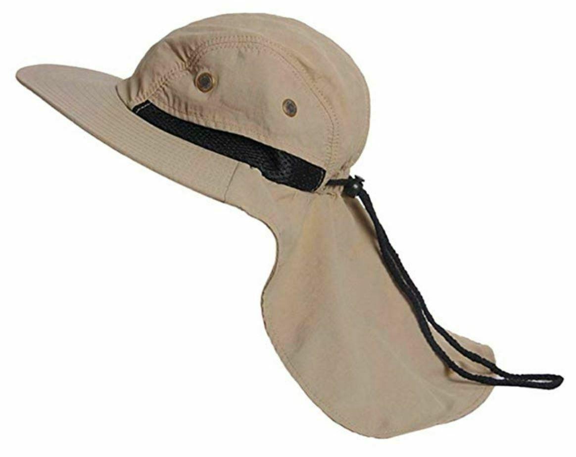 648bd72d Wide Brim Bucket Flap Bonnie Hat Brim Neck Ear Cover Cap Fishing Hiking  Hunting